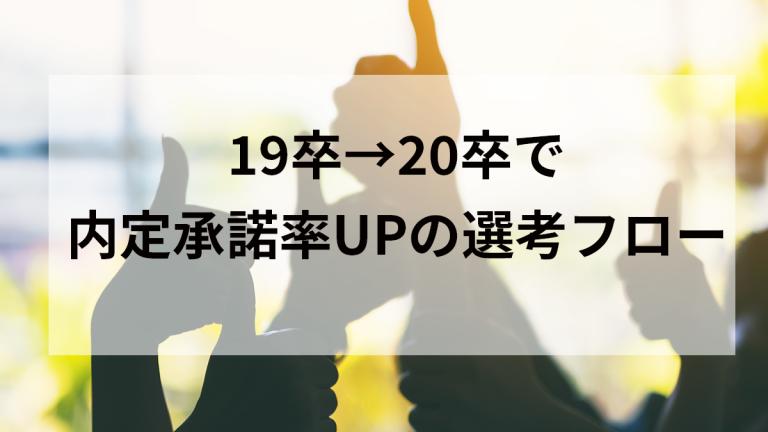 19卒→20卒で内定承諾率UPの選考フロー