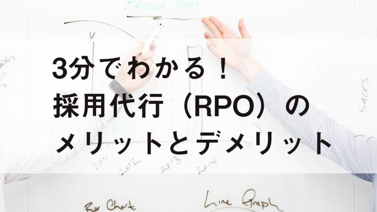 3分でわかる!採用代行(RPO)のメリットとデメリット