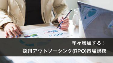 4割の企業が活用する採用アウトソーシング(RPO)!市場規模と今後の展開にも注目!