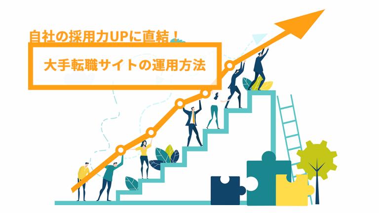 自社の採用力UPに直結!大手転職サイトの運用方法、徹底解説!
