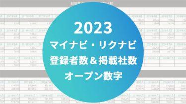 【速報】今何人?何社掲載?大手2社@就職サイト2022卒掲載企業数・学生登録者数【2021年3月1日】